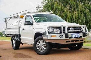 2013 Volkswagen Amarok 2H MY13 TDI400 4Mot Candy White 6 Speed Manual Cab Chassis Wangara Wanneroo Area Preview