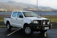 2012 Toyota Hilux KUN26R MY12 Workmate Double Cab White 5 Speed Manual Utility Derwent Park Glenorchy Area Preview