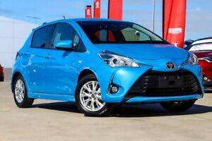 2018 Toyota Yaris NCP131R ZR Azure Blue 4 Speed Automatic Hatchback