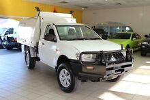 2007 Mitsubishi Triton ML MY07 GLX White 5 Speed Manual 2D CAB CHASSIS Jamisontown Penrith Area Preview