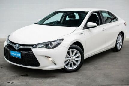2015 Toyota Camry AVV50R Atara S White 1 Speed Constant Variable Sedan Hybrid