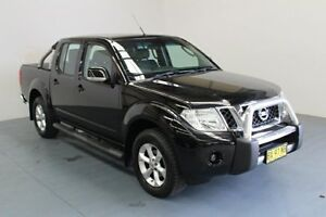2013 Nissan Navara D40 S6 MY12 ST Midnight Black 5 Speed Sports Automatic Utility Hamilton East Newcastle Area Preview