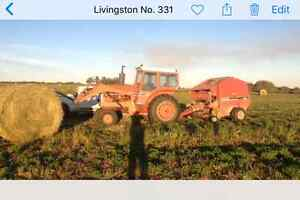 Loader tractor for sale along with livestock trailer
