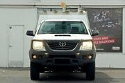 2014 Toyota Hilux KUN26R MY14 SR White 5 Speed Manual Cab Chassis Ferntree Gully Knox Area Preview