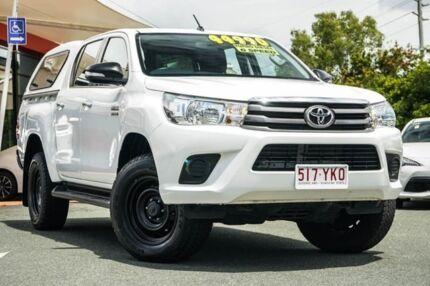 2016 Toyota Hilux GUN126R SR Double Cab White 6 Speed Sports Automatic Utility Noosaville Noosa Area Preview