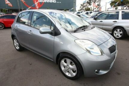 2008 Toyota Yaris NCP90R Rush Grey 5 Speed Manual Hatchback Kingsville Maribyrnong Area Preview