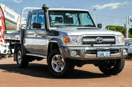 2015 Toyota Landcruiser VDJ79R GXL Double Cab Silver 5 Speed Manual Cab Chassis Cannington Canning Area Preview
