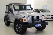 2004 Jeep Wrangler TJ MY2005 Sport Silver 6 Speed Manual Softtop Myaree Melville Area Preview