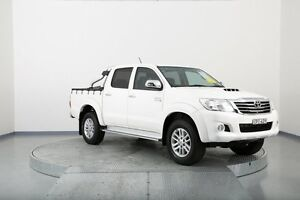 2013 Toyota Hilux KUN26R MY12 SR5 Double Cab White 4 Speed Automatic Utility Old Guildford Fairfield Area Preview