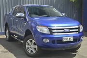 2013 Ford Ranger PX XLT Double Cab Aurora Blue 6 Speed Sports Automatic Utility Blair Athol Port Adelaide Area Preview