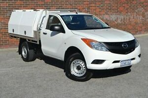 2014 Mazda BT-50 UP0YF1 XT White 6 Speed Manual Cab Chassis Woodbridge Swan Area Preview