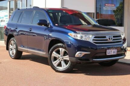 2012 Toyota Kluger GSU40R MY12 KX-S 2WD Blue 5 Speed Sports Automatic Wagon Osborne Park Stirling Area Preview