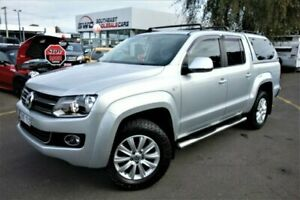 2013 Volkswagen Amarok 2H MY13 TDI420 4Motion Perm Highline Silver 8 Speed Automatic Utility Seaford Frankston Area Preview