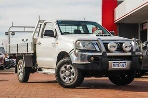 2012 Toyota Hilux White Automatic Cab Chassis Midland Swan Area Preview