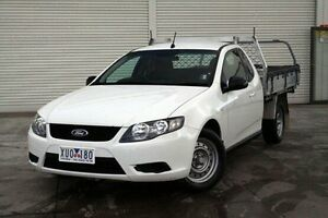 2010 Ford Falcon FG Super Cab White 4 Speed Sports Automatic Cab Chassis Seaford Frankston Area Preview