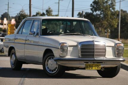 1973 Mercedes-Benz 230 114 White 4 Speed Manual Sedan Malaga Swan Area Preview