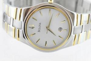 BRAND NEW BULOVA TWO TONE LARGE FACE MENS WATCH FOR SALE