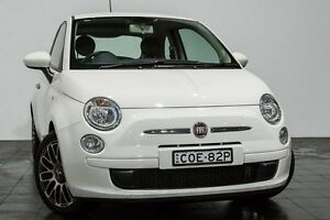 2013 Fiat 500 Series 1 Pop Dualogic White 5 Speed Sports Automatic Single Clutch Hatchback Rozelle Leichhardt Area Preview