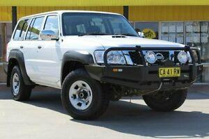 2014 Nissan Patrol Y61 GU 9 DX White 4 Speed Automatic Wagon Telarah Maitland Area Preview