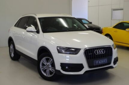 2013 Audi Q3 8U MY13 TFSI S tronic quattro White 7 Speed Sports Automatic Dual Clutch Wagon Myaree Melville Area Preview