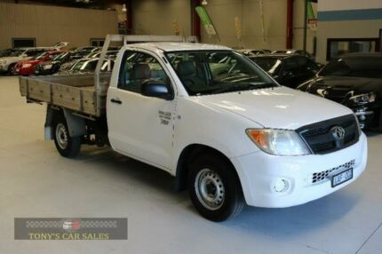2005 Toyota Hilux TGN16R Workmate White Manual Cab Chassis