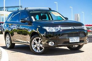 2012 Mitsubishi Outlander ZJ MY13 Aspire 4WD Black 6 Speed Constant Variable Wagon East Rockingham Rockingham Area Preview