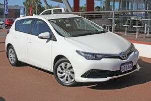 2015 Toyota Corolla ZRE182R Ascent S-CVT Glacier White 7 Speed Constant Variable Hatchback Myaree Melville Area Preview