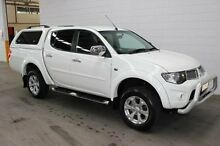 2013 Mitsubishi Triton MN MY13 GLX-R Double Cab White 5 Speed Manual Utility Burnie Burnie Area Preview