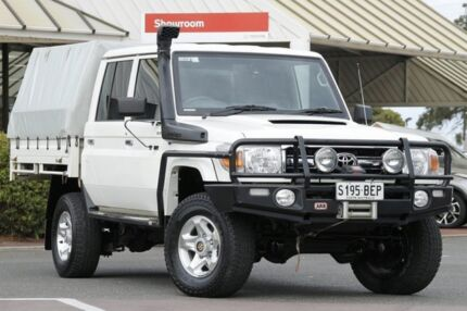 2015 Toyota Landcruiser VDJ79R GXL Double Cab French Vanilla 5 Speed Manual Cab Chassis Christies Beach Morphett Vale Area Preview