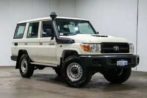 2018 Toyota Landcruiser VDJ76R Workmate French Vanilla 5 Speed Manual Wagon Welshpool Canning Area Preview