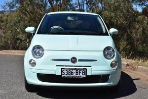 2014 Fiat 500 Series 1 Pop Dualogic Mint Milkshake 5 Speed Sports Automatic Single Clutch Hatchback St Marys Mitcham Area Preview