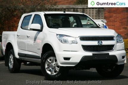 2012 Holden Colorado RG MY13 LT Crew Cab Olympic White 5 Speed Manual Utility