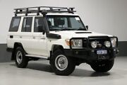 2011 Toyota Landcruiser VDJ76R 09 Upgrade Workmate (4x4) White 5 Speed Manual Wagon Bentley Canning Area Preview
