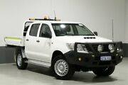 2015 Toyota Hilux KUN26R MY14 SR (4x4) White 5 Speed Manual Dual Cab Chassis Bentley Canning Area Preview