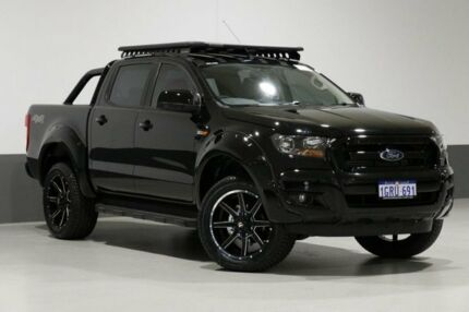 2018 Ford Ranger PX MkII MY18 XLS 3.2 (4x4) Black 6 Speed Automatic Dual Cab Utility Bentley Canning Area Preview