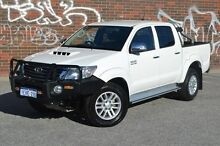 2013 Toyota Hilux KUN26R MY14 SR5 Double Cab White 5 Speed Automatic Utility Midland Swan Area Preview