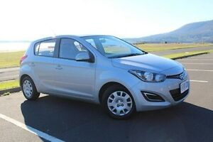 2014 Hyundai i20 PB MY14 Active Silver 4 Speed Automatic Hatchback Derwent Park Glenorchy Area Preview