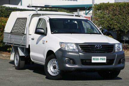 2012 Toyota Hilux TGN16R MY12 Workmate White 4 Speed Automatic Cab Chassis