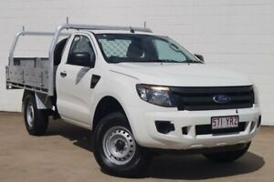 2014 Ford Ranger PX XL 4x2 Hi-Rider White 6 Speed Sports Automatic Cab Chassis Bundaberg Central Bundaberg City Preview