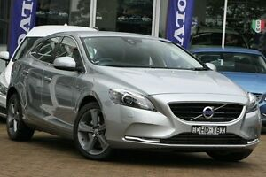 2015 Volvo V40 M MY16 T4 Luxury Silver 6 Speed Automatic Hatchback Killara Ku-ring-gai Area Preview