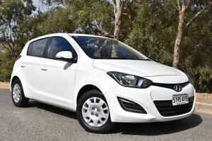2012 Hyundai i20 PB MY12 Active White 5 Speed Manual Hatchback St Marys Mitcham Area Preview