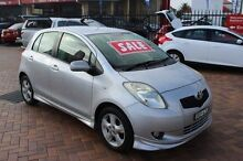 2007 Toyota Yaris NCP91R 06 Upgrade YRX Silver 5 Speed Manual Hatchback South Maitland Maitland Area Preview