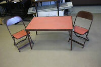Vintage Childs Folding Table & Chairs(2)