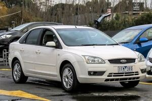 2005 Ford Focus LR MY2003 Ghia White 4 Speed Automatic Sedan Ringwood East Maroondah Area Preview