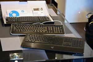 4 Gaming keyboards, mechanical, wireless etc...