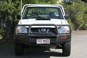 2010 Nissan Navara D22 MY2010 DX White 5 Speed Manual Cab Chassis