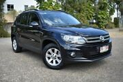 2013 Volkswagen Tiguan 5N MY14 132TSI DSG 4MOTION Pacific Black 7 Speed Sports Automatic Dual Clutch Underwood Logan Area Preview