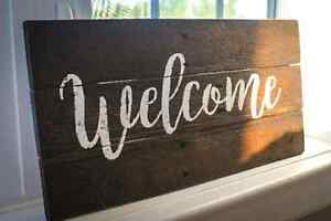 Rustic Wooden Custom Welcome Sign