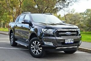 2017 Ford Ranger PX MkII Wildtrak Double Cab Black 6 Speed Sports Automatic Utility Medindie Walkerville Area Preview