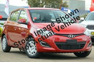2014 Hyundai i20 PB MY15 Active Red 4 Speed Automatic Hatchback Midvale Mundaring Area Preview